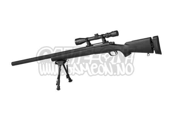 Bilde av Snow Wolf - M24 SWS Airsoft Sniper med Tofot og Kikkertsikte - S