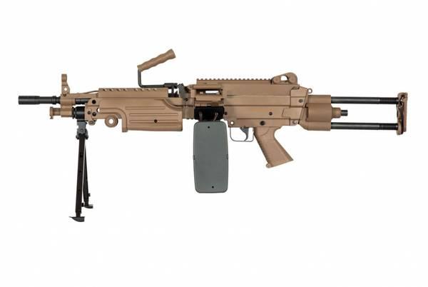 Bilde av Specna Arms - M249 PARA Core Elektrisk Maskingevær - Tan