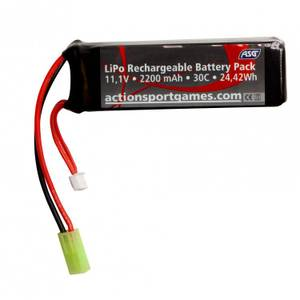 Bilde av ASG Batteri LIPO - 11,1V 2200 mAh 30C - Tamyia