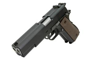 Bilde av WE - 1911 Double Barrel Gassdrevet Softgunpistol - Svart