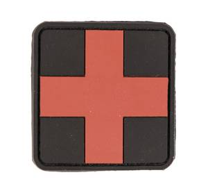 Bilde av PVC 3D Patch - First Aid - Rød