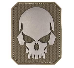 Bilde av PVC 3D Patch - Skull - Olive