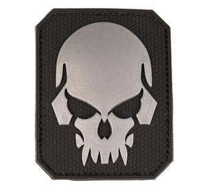 Bilde av PVC 3D Patch - Skull - Svart