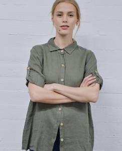 Bilde av Grønn MAPP Soho lin skjorte