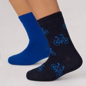 Bilde av Blå SAFA Trikse sokker 2-pack