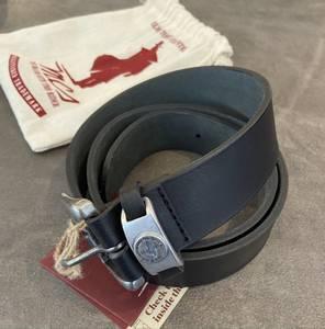 Bilde av Svart MCS Raw leather belte