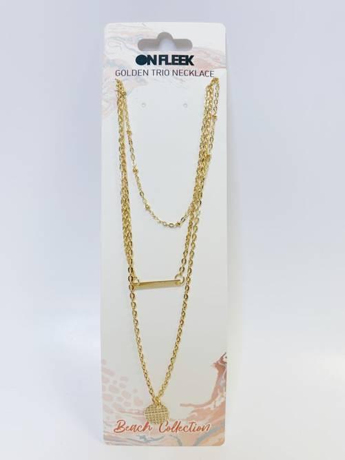 Bilde av Beachy Golden Trio Necklace