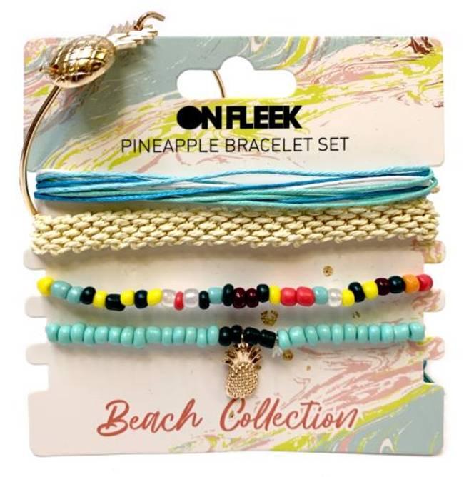Bilde av Beachy Pineapple Bracelet Set