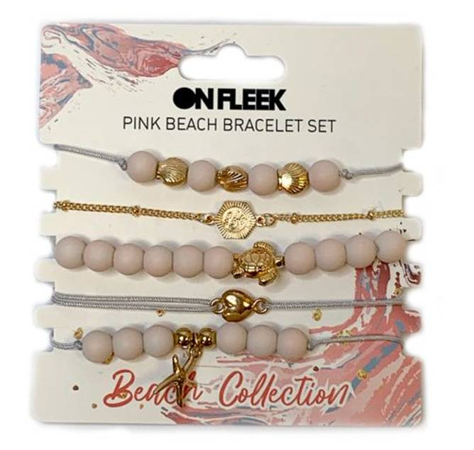 Bilde av Beachy Pink Bracelet Set