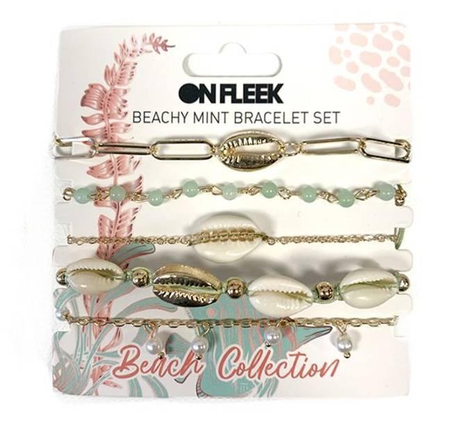 Bilde av Beachy Mint Bracelet Set
