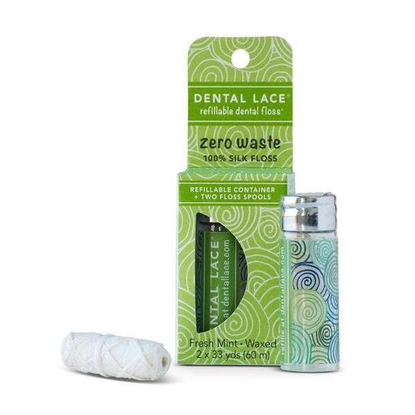 Bilde av Dental Lace Pine Tree Green tanntråd glass