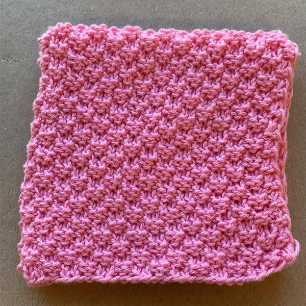 Bilde av Strikkeklut 100% bomull Pink