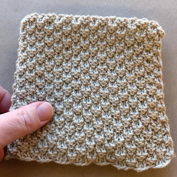 Bilde av Strikkeklut 100% bomull Beige