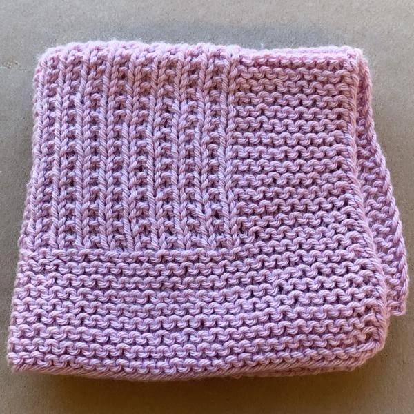 Bilde av Strikkeklut 100% bomull Lavender *1 igjen*