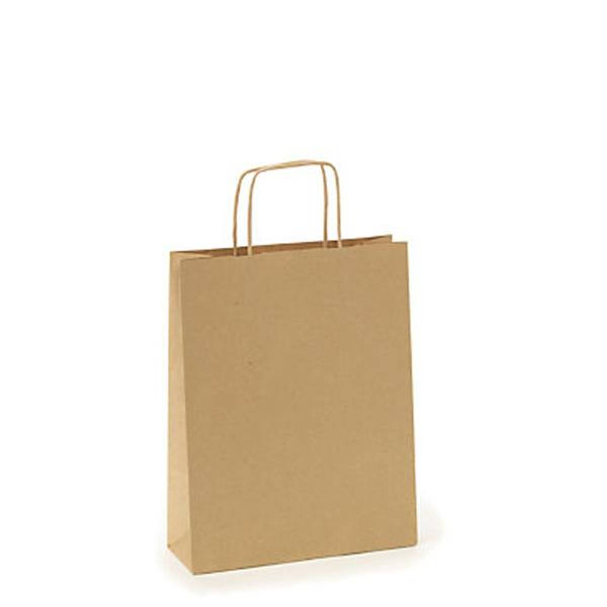 Agent M papirpose brun liten 25 cm høy
