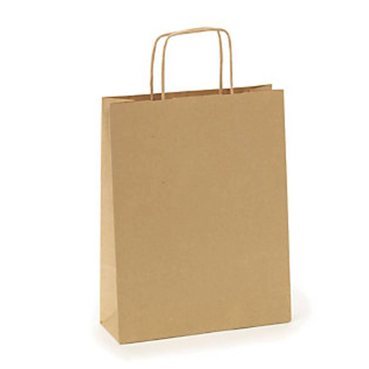 Agent M papirpose brun stor 35 cm høy