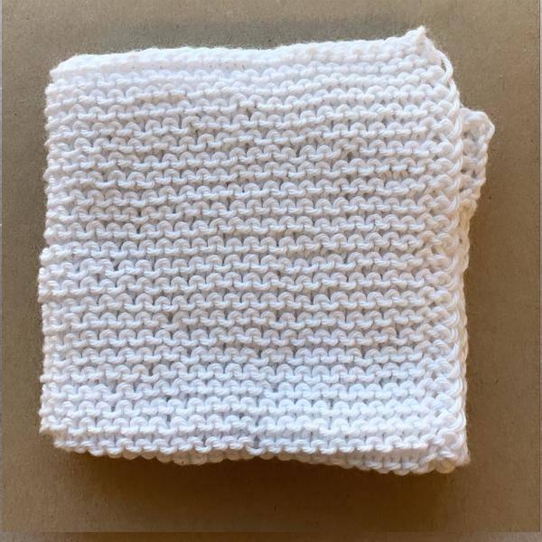 Bilde av Strikkeklut 100% bomull White