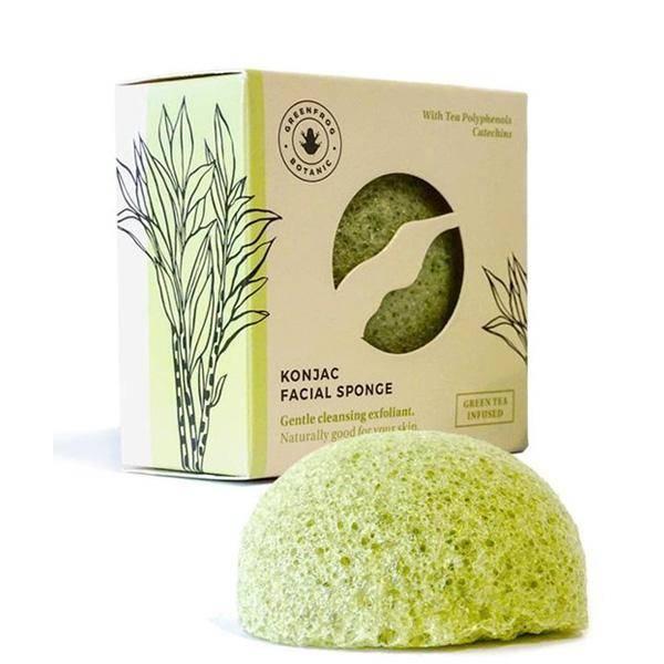 Bilde av Greenfrog Konjac facial sponge Green Tea