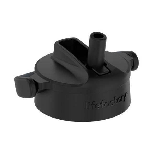 Bilde av Lifefactory Cap Pivot Straw Black