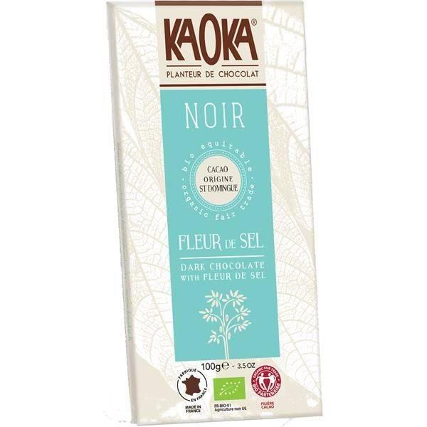 Bilde av Kaoka mørk sjokolade m/Fleur de sel 70% 100 gr