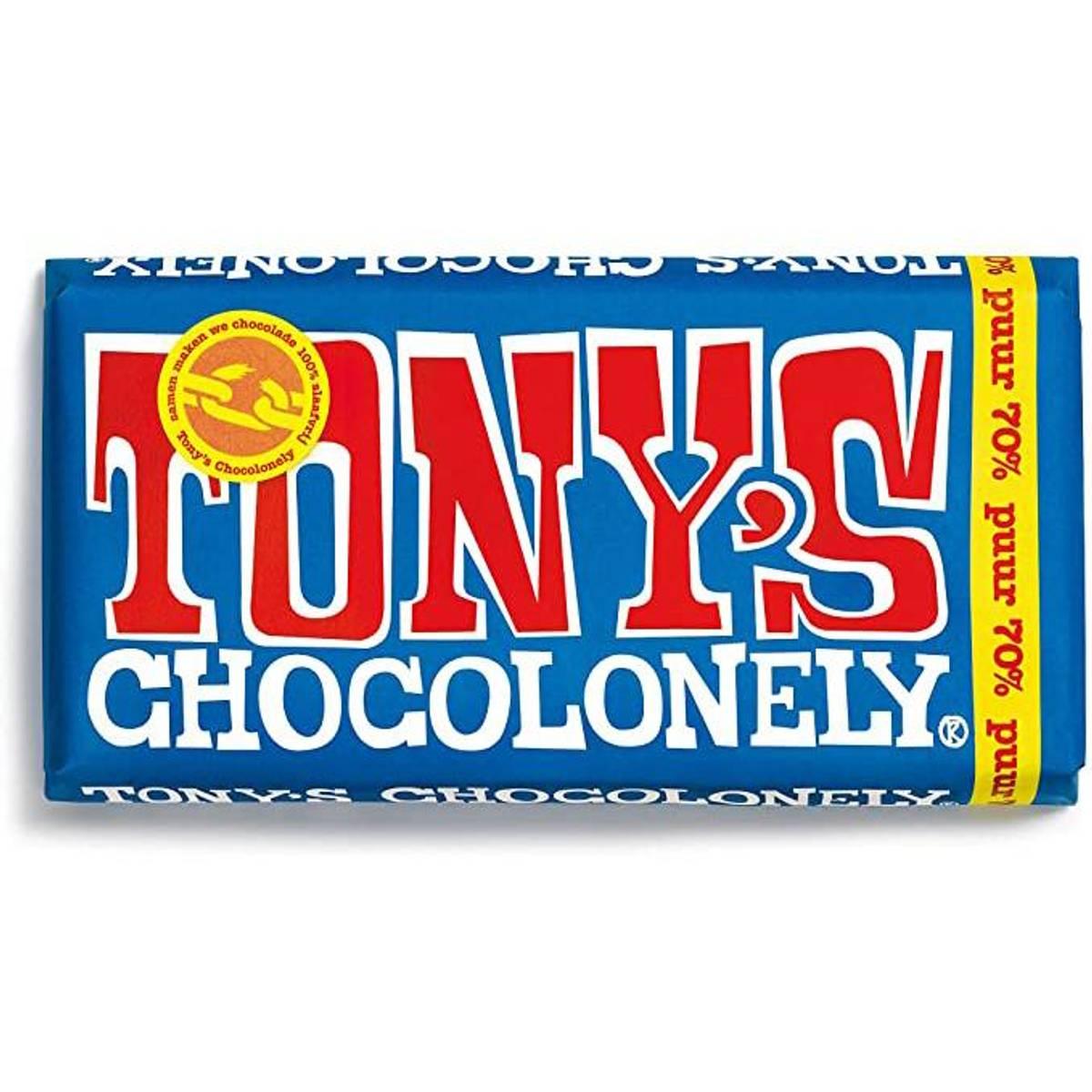 Tony's Chocolonely mørk sjokolade 70% 180 g
