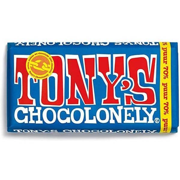 Bilde av Tony's Chocolonely mørk sjokolade 70% 180 g