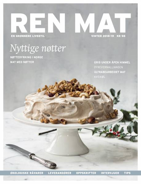 Bilde av Ren Mat magasinet 2018-19 Vinter Nyttige nøtter