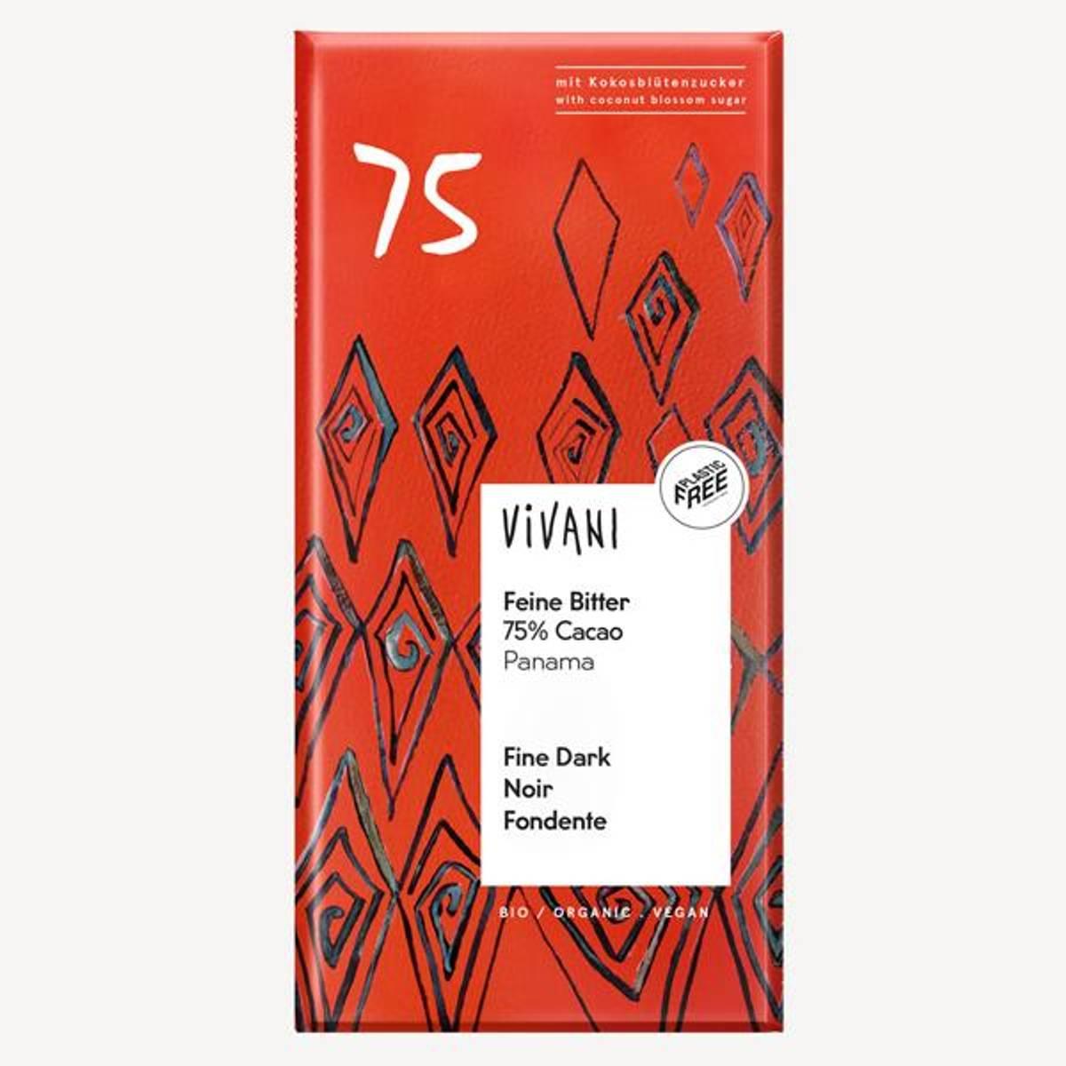 Vivani Fine Dark 75 % Cocoa 80 gram