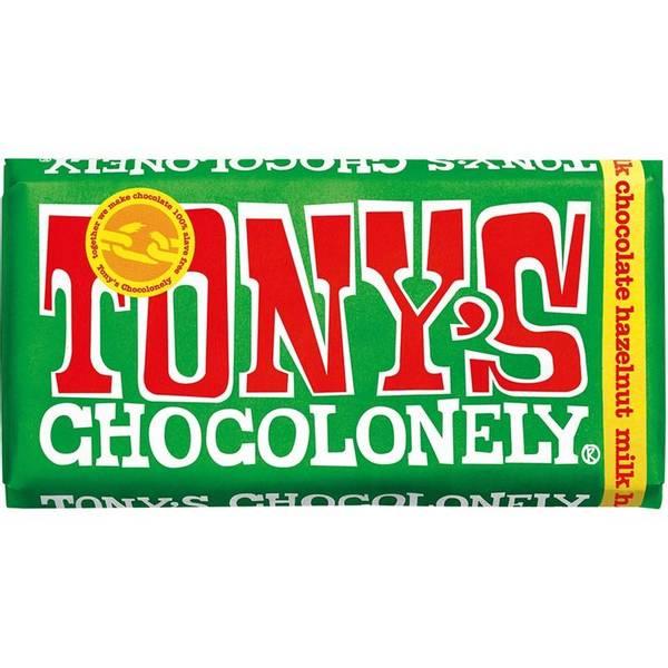 Bilde av Tony's Chocolonely Hasselnøtt melkesjokolade 180 g