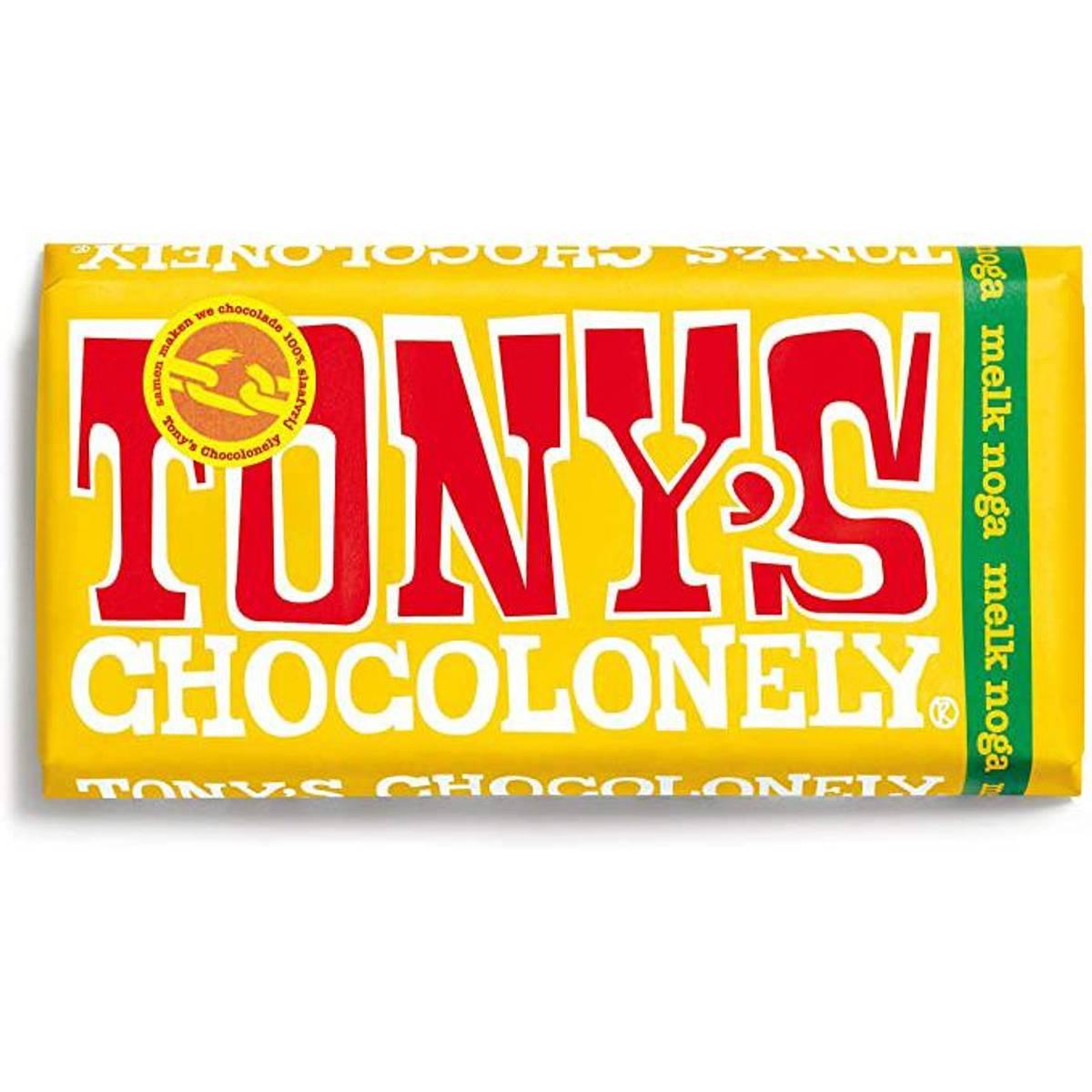 Tony's Chocolonely Nougat melkesjokolade 180 g