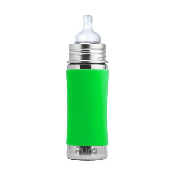 Bilde av Pura Baby 325ml tåteflaske Green
