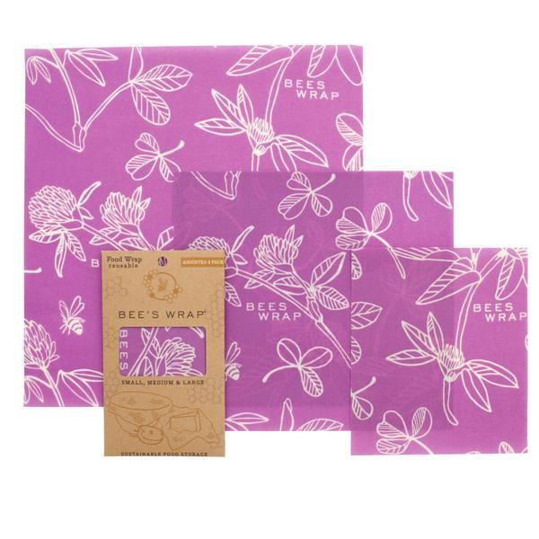 Bilde av Bees Wrap - Assorted 3 pack Clover Print