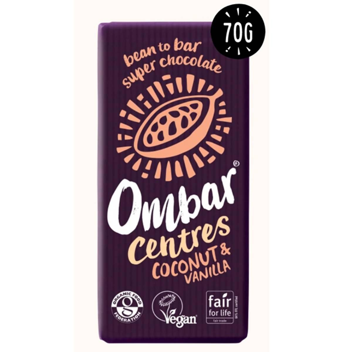 Ombar Centes Coconut & Vanilla 70 gram
