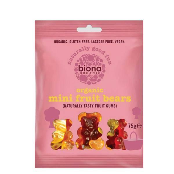 Bilde av Biona Mini Fruit Bears 75 gr