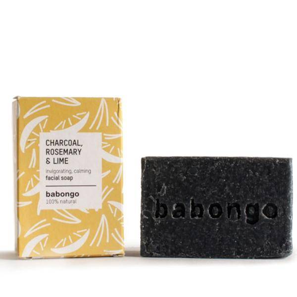 Bilde av Babongo facial soap Charcoal & Rosmary & Lime