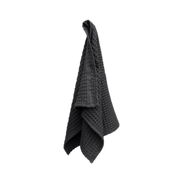 Bilde av Big Waffle Hand Towel Dark Grey