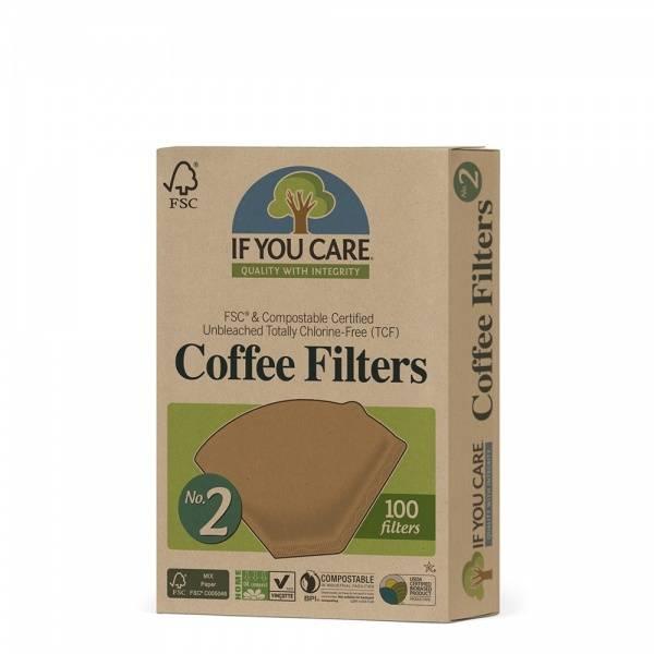Bilde av If You Care Kaffefilter nr 2 100 stk