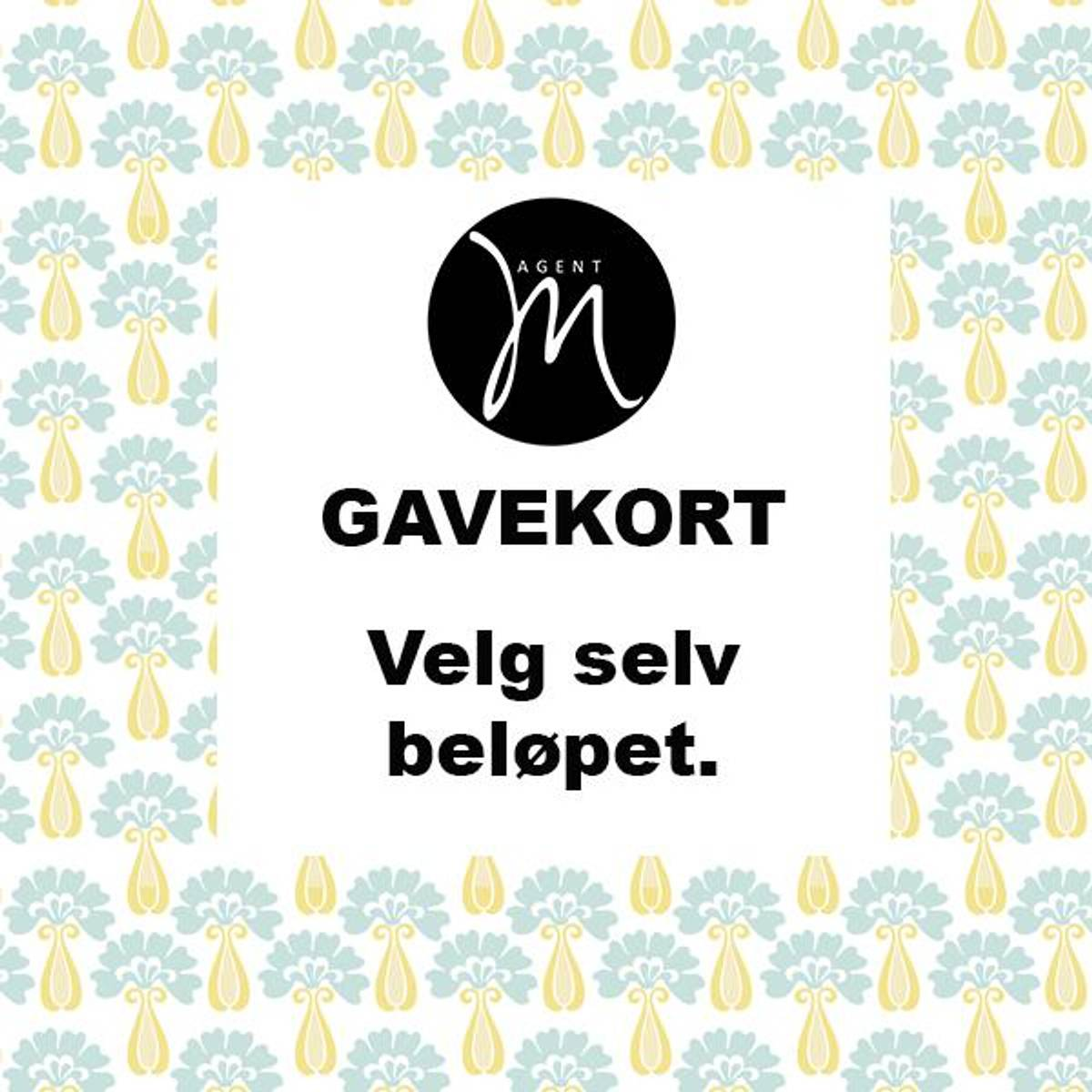 Agent M Gavekort - velg beløpet selv