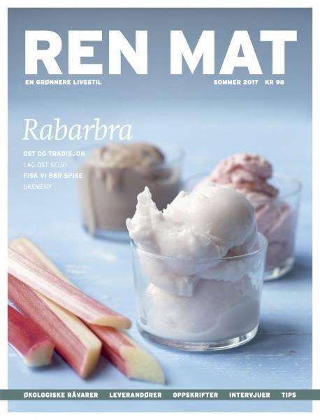 Bilde av Ren Mat magasinet 2017 Sommer Rabarbra