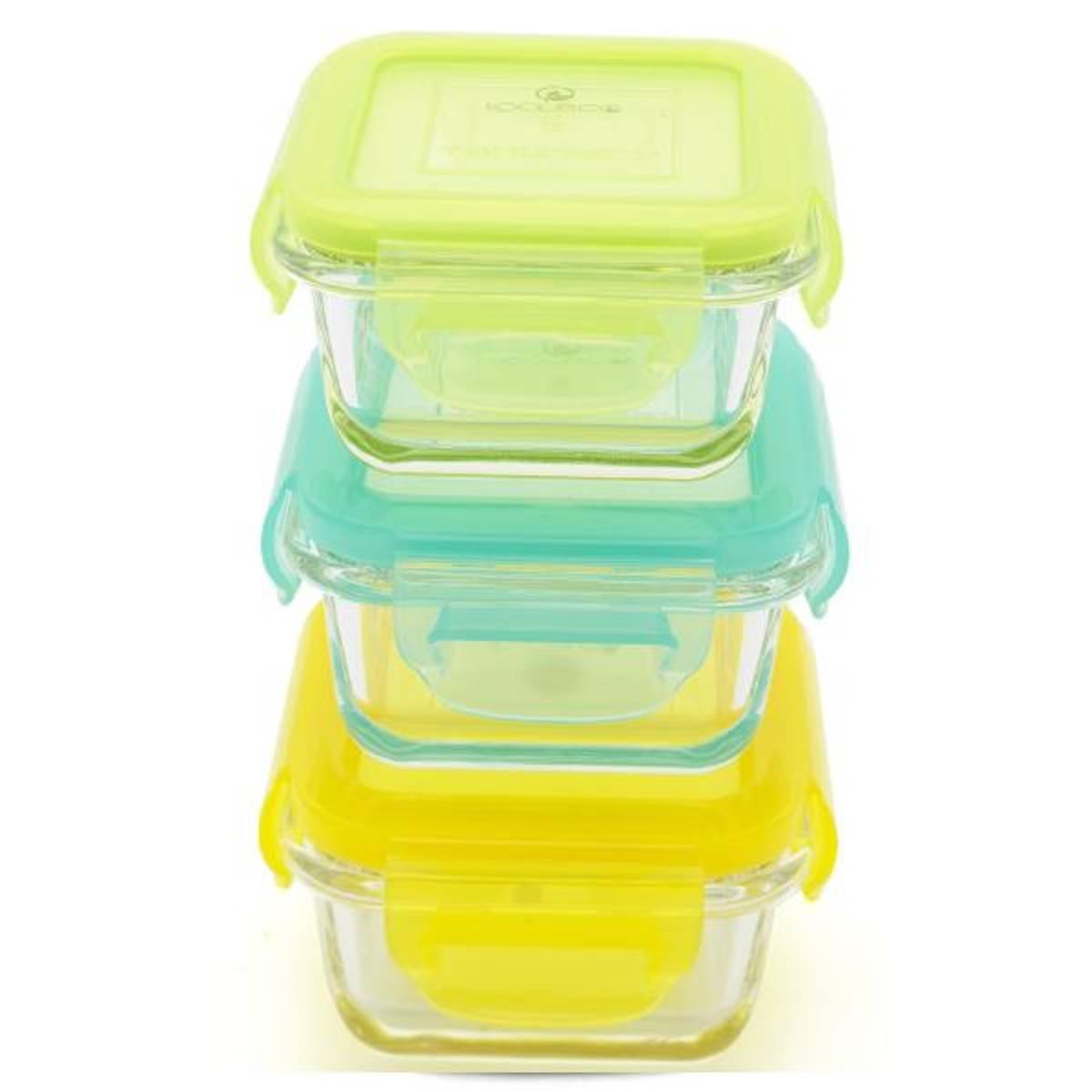 Kooleco glassbeholdere Cubes 3 pk 150ml