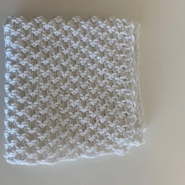Bilde av Strikkeklut 100% Eco bomull Hvit