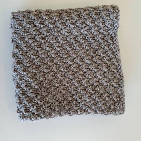 Bilde av Strikkeklut 100% Eco bomull Muldvarp