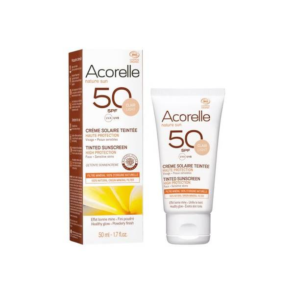 Bilde av Acorelle Tinted Sun Face Cream SPF 50 - 50ml
