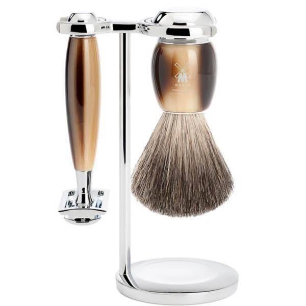 Bilde av Mühle Vivo Pure Badger barbersett 3 deler Horn *1 igjen*