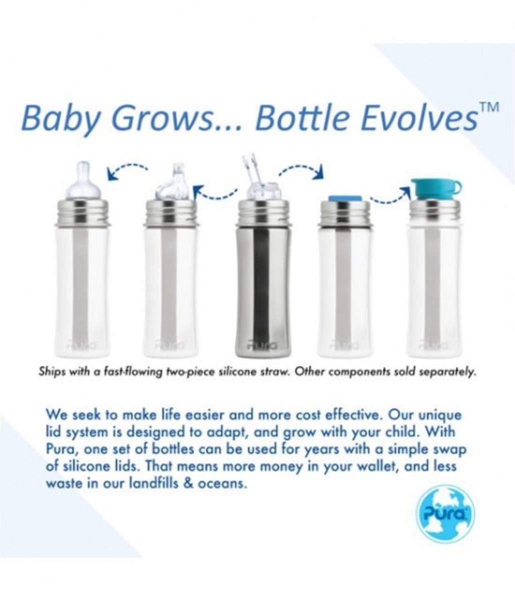 Pura Toddler Straw 250ml Aqua THERMO