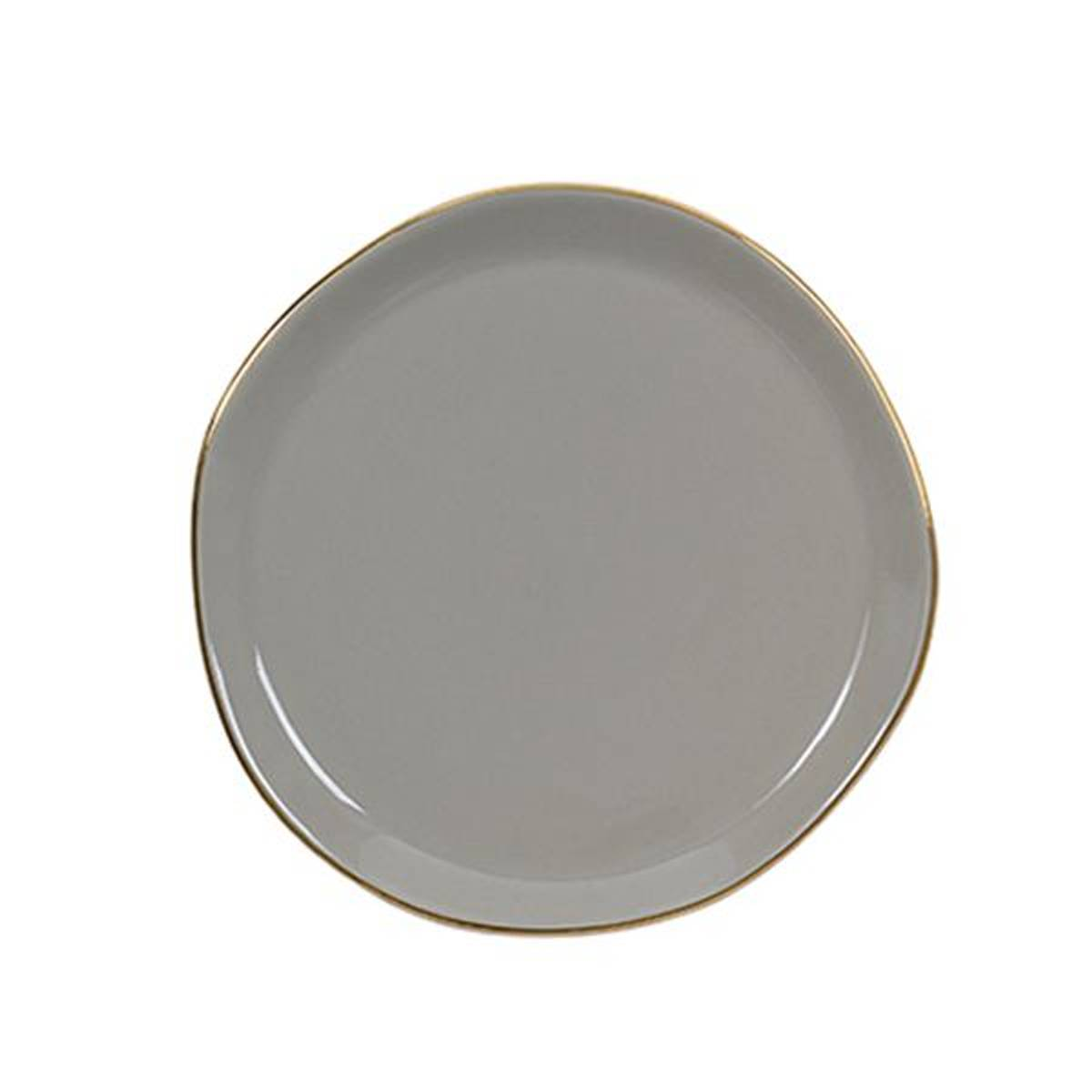 UNC Good Morning Plate Gray 17 cm