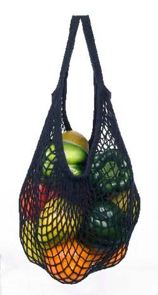 Bilde av ECOBAGS® Stringbag kort hank Black