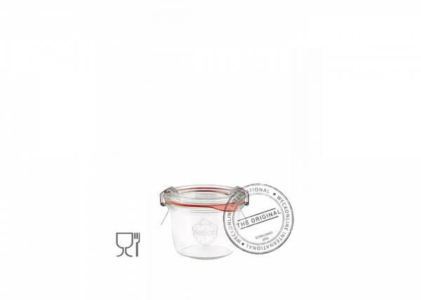 Bilde av Weck Klassisk (mini) 80 ml m/lokk og 2 klemmer