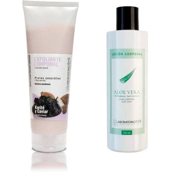 Kaviar og Shea scrub & Aloe Vera body lotion