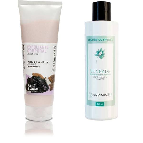 Kaviar og Shea scrub & Grønn Te body lotion
